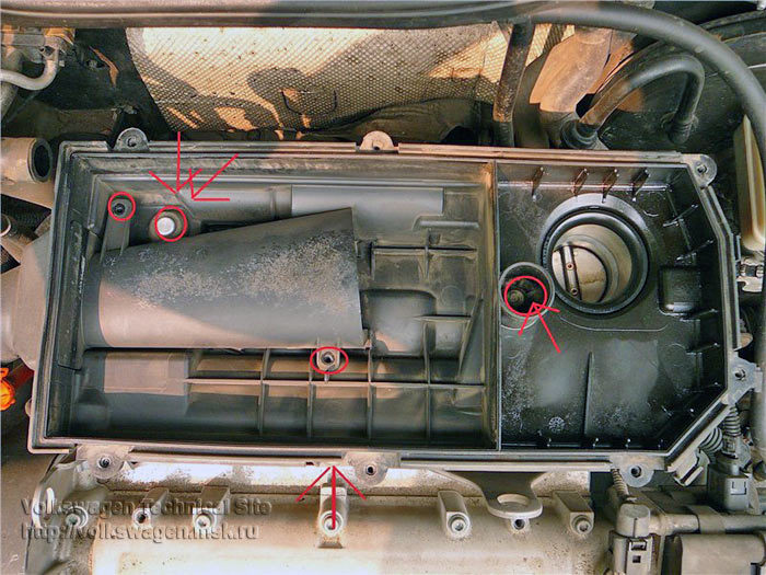 Choker cleaning and air filter change VW Golf 4 / VW Bora